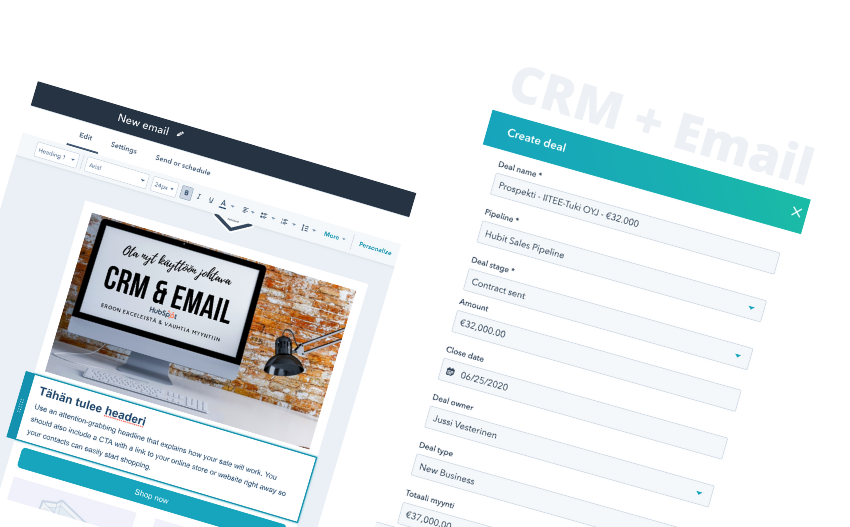 HubSpot CRM + Email