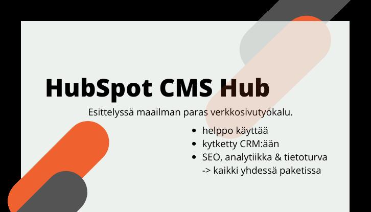 HubSpot CMS Hub ominaisuudet